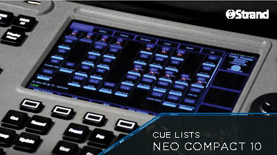 NEO COMPACT 10 Cue Lists