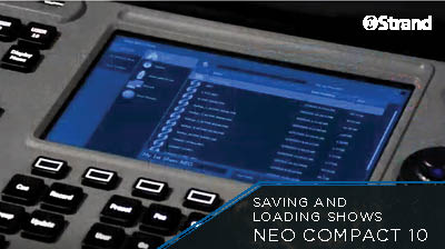 NEO COMPACT 10 Saving and Loading Shows